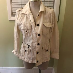 Maurices white denim jacket